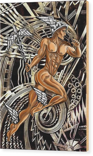 Deco Mercury Rising Wood Print