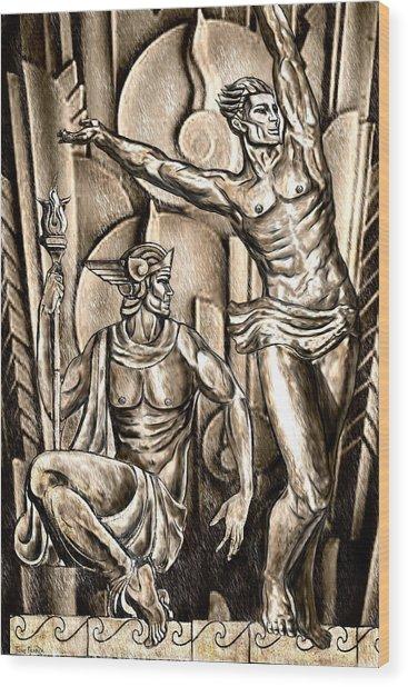 Deco Olympus Wood Print