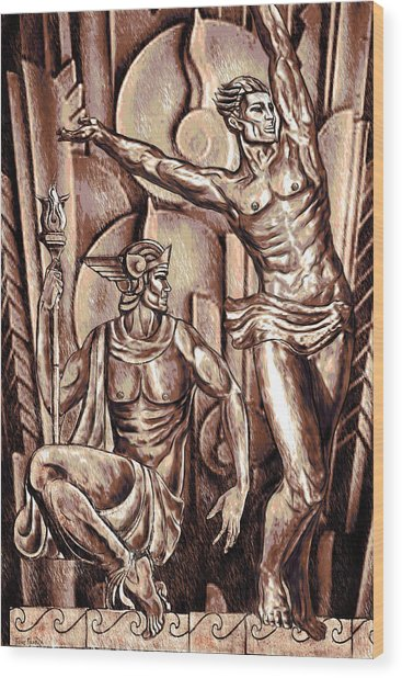 Deco Olympus Tri-tone Wood Print