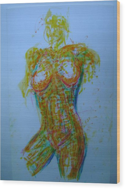 Decolletage Wood Print by Dean Corbin