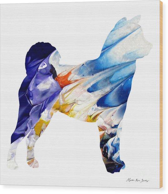 Decorative Husky Abstract O1015c Wood Print
