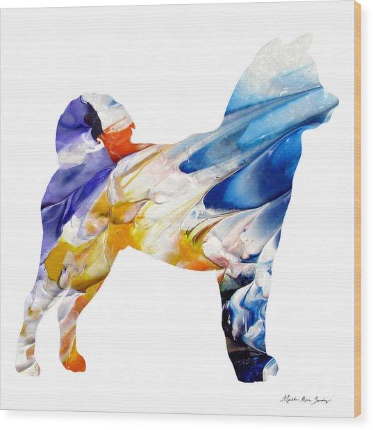 Decorative Husky Abstract O1015e Wood Print