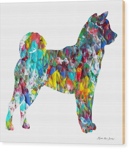 Decorative Husky Abstract O1015h Wood Print