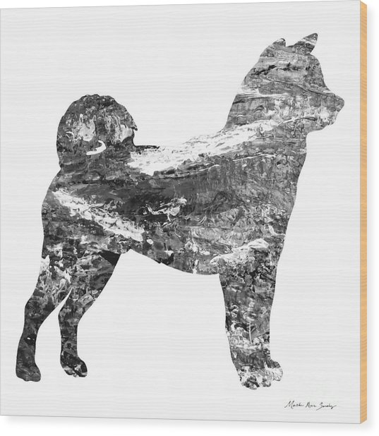 Decorative Husky Abstract O1015j Wood Print