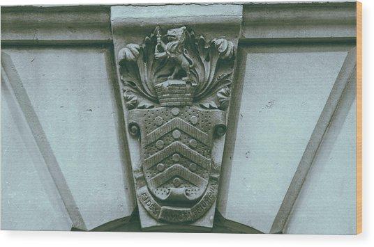 Decorative Keystone Architecture Details C Wood Print