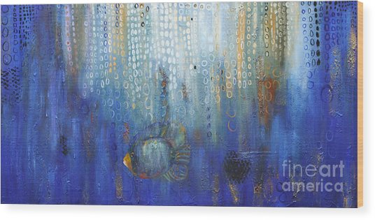Deep Blue Sea Wood Print