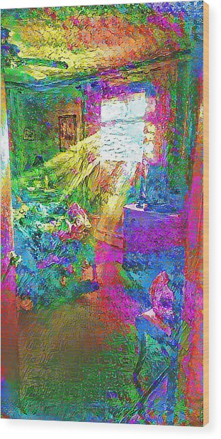 Deep Dream Wood Print
