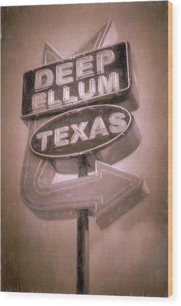 Deep Ellum Pink Wood Print