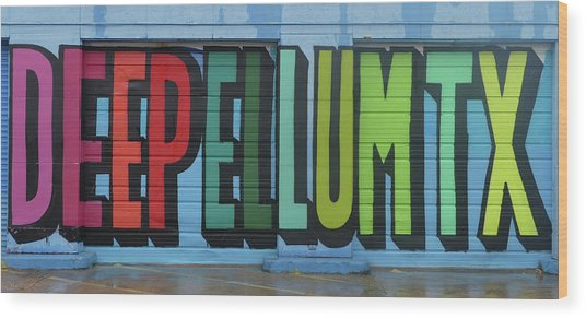 Deep Ellum Wall Art Wood Print