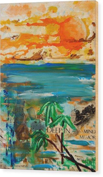 Deep In Mind Memory Wood Print by Nathan Paul Gibbs