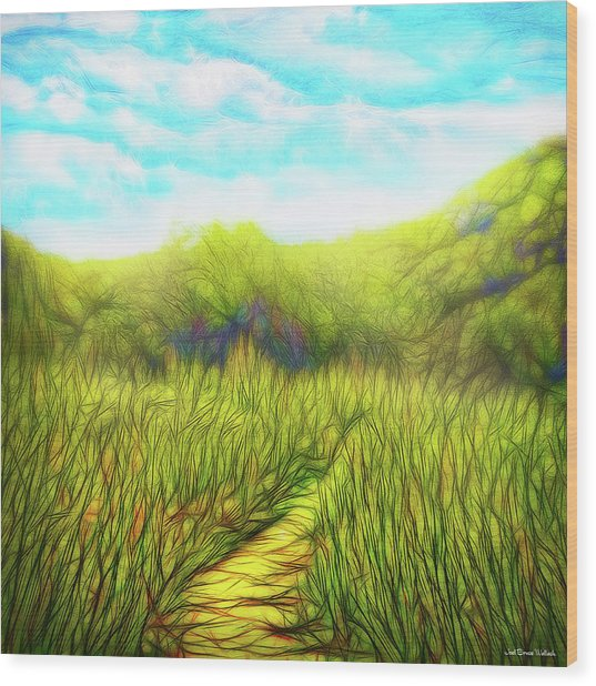 Deep Meadow Tranquility Wood Print