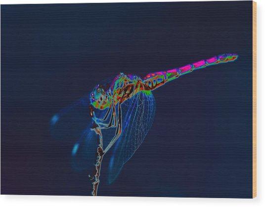 Deep Ocean Dragon Wood Print