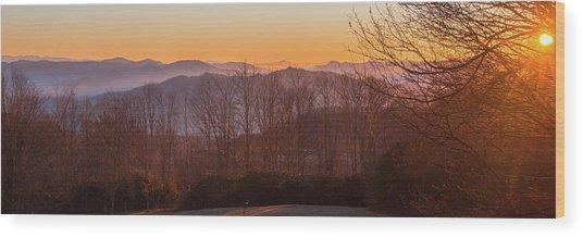 Deep Orange Sunrise Wood Print
