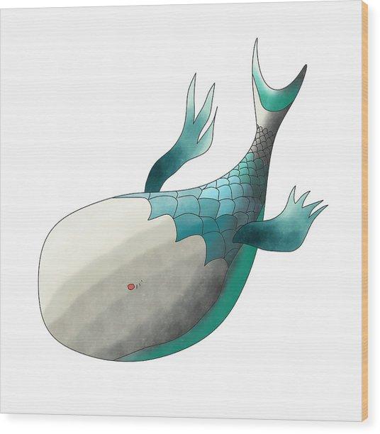 Deep Sea Fish Wood Print