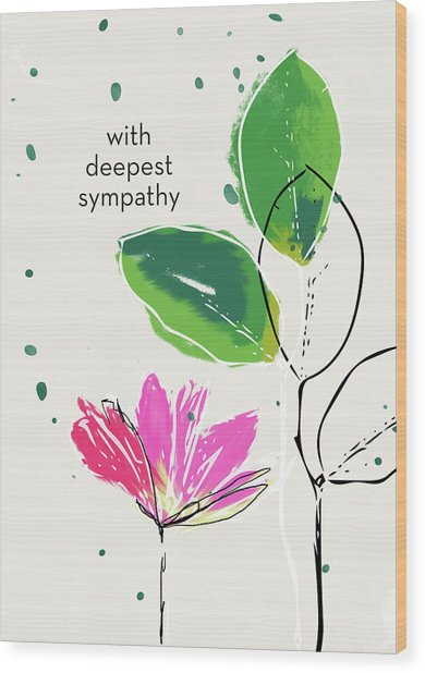 Deepest Sympathy Daisy- Art By Linda Woods Wood Print
