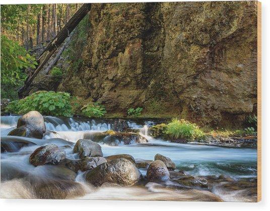 Deer Creek Wood Print
