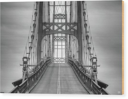 Deer Isle Sedgwick Bridge Wood Print
