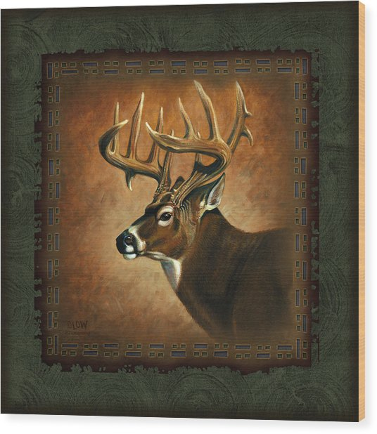 Deer Lodge Wood Print