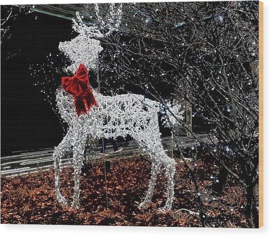 Deer Winter Wood Print