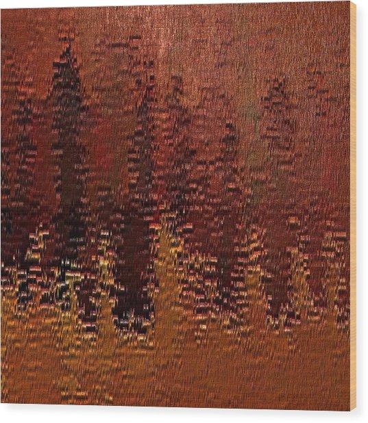 Degradation Wood Print