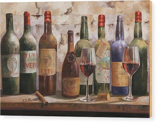 Del Buon Vino Wood Print