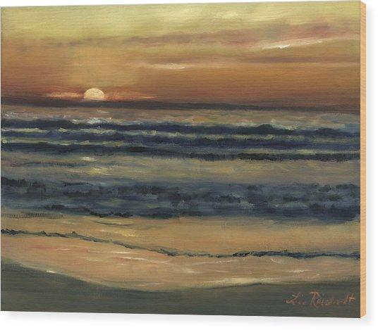 Del Mar Sunset Wood Print