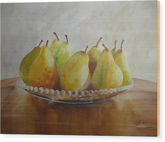 Wood Print featuring the painting Delectable by Ruth Kamenev