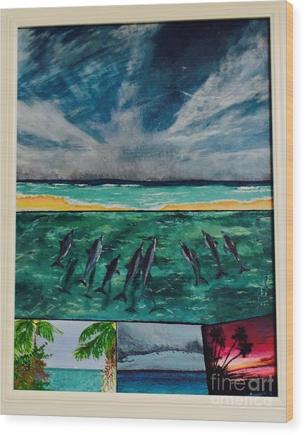 Delfin Wood Print