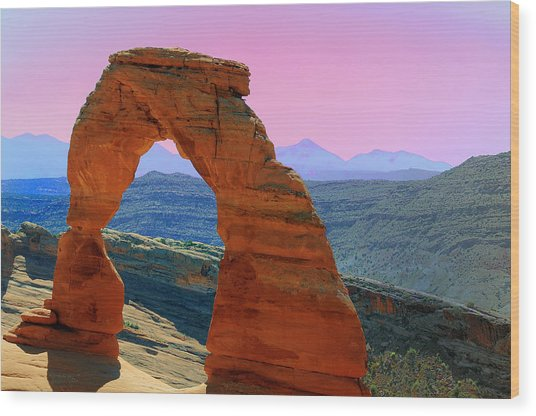 Delicate Arch  --  Arches National Park Wood Print