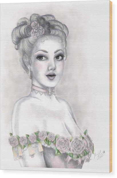 Delicate Beauty Wood Print by Scarlett Royal
