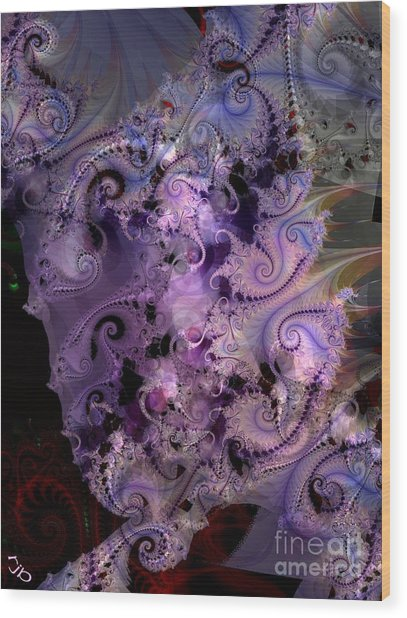 Delicate Lavender Forms Wood Print