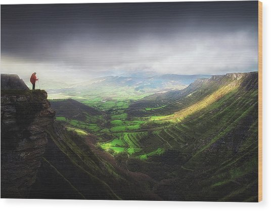 Delika Canyon Wood Print