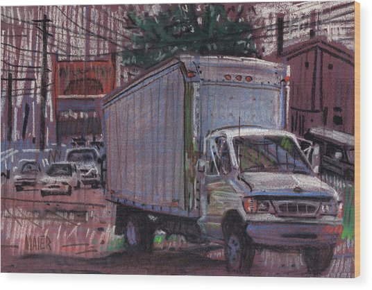 Delivery Truck 2 Wood Print