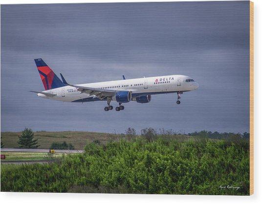 Delta Air Lines 757 Airplane N557nw Art Wood Print