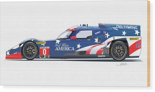 Deltawing Le Mans Racer Illustration Wood Print