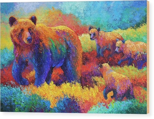 Denali Family Wood Print
