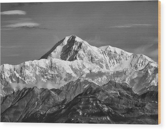 Denali Grey Wood Print