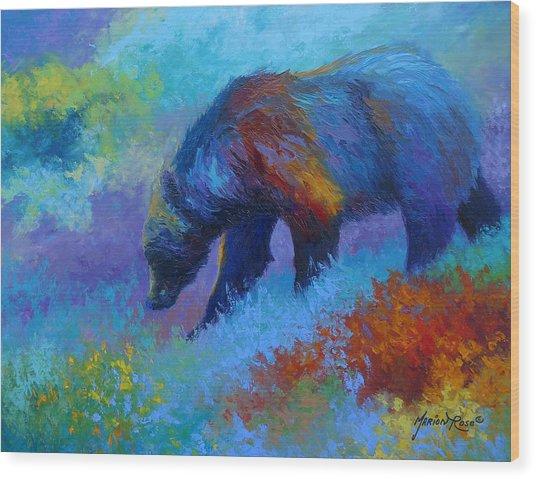 Denali Grizzly Bear Wood Print