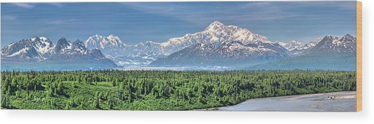 Denali Panorama Wood Print