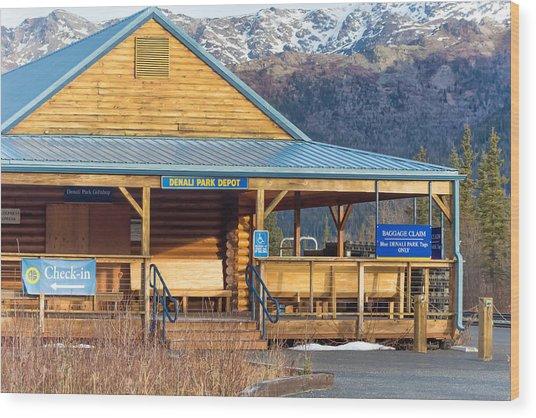 Denali View Alaska Wood Print