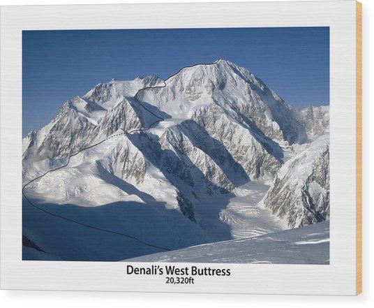Denali West Buttress Wood Print