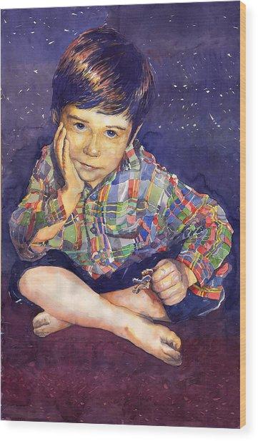 Denis 01 Wood Print