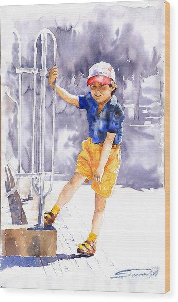 Denis 02 Wood Print