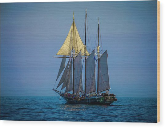 Denis Sullivan - Three Masted Schooner Wood Print