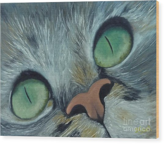 Denise's Cat Jasmine Wood Print