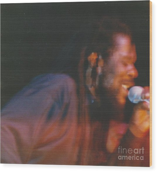 Dennis Brown Wood Print