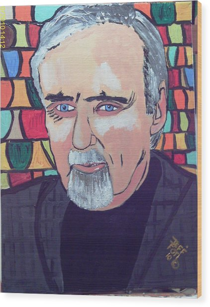 Dennis Hopper Wood Print by Jeffrey Foti