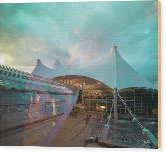Denver International Airport Wood Print