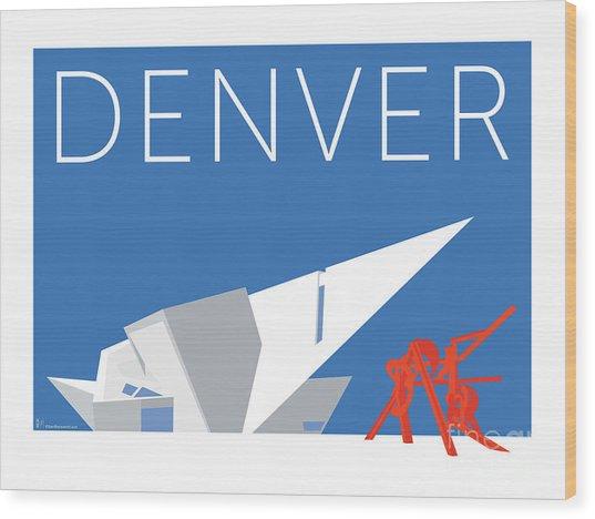Denver Art Museum/blue Wood Print