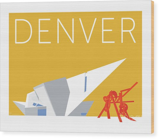 Denver Art Museum/gold Wood Print